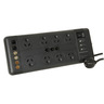 8-Way High End Powerboard with Surge Protection with Connected Equipment Warranty