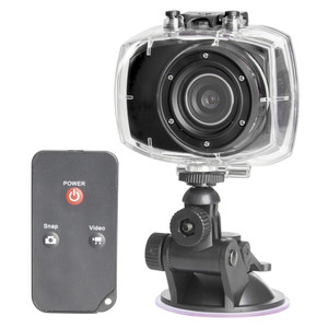 1080p HD Action Camera with Touchscreen and Waterproof Case