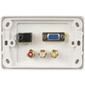 Multimedia Wallplate with VGA, PC Audio, and Composite AV