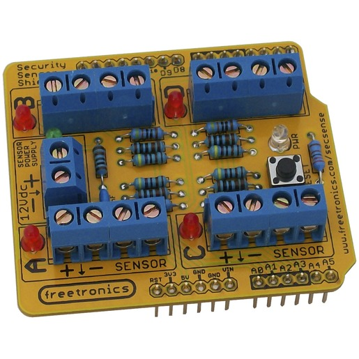 Security Sensor Shield Kit for Arduino.