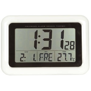 LCD Alarm Clocks with Temperature and Calendar