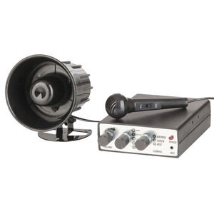 12V Siren with 10 Sounds and Microphone