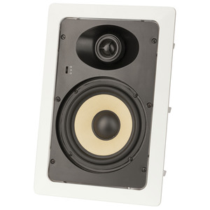 In-Wall 2 Way 6.5 Speaker with Swivel Tweeter
