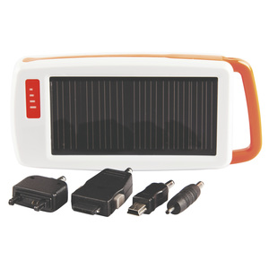 SOLAR MOBILE PHONE CHARGER WITH LED LIGHT PANEL