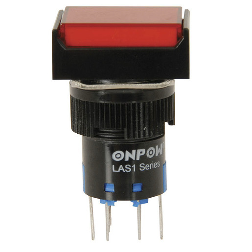 Aexit 12VDC Single Switches Lead Wire Momentary Action Push Button Car Pushbutton Switches Stop Switch